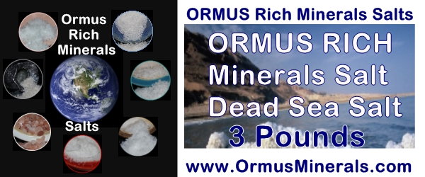 Rich Ormus Minerals Dead Sea Salt from Israel 3 lb